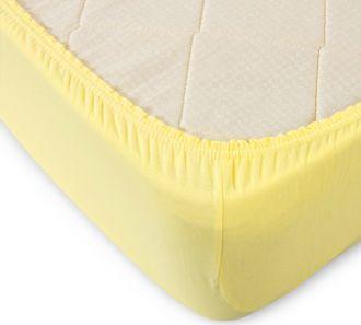 Простыня на резинке (желтая)