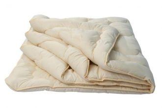 """Одеяло 25 """"Золотое руно"""" (шерсть овечья 300/микрофибра) евро"""