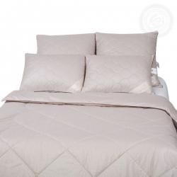 Одеяло 57  арт. 2174 (шерсть верблюжья 200/тик) 1,5-спальное
