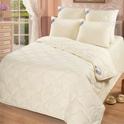Одеяло 70  арт. 2454 (шерсть овечья 200/микрофибра) 1,5-спальное