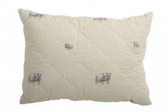 Подушка 10 (шерсть овечья/смесовая ткань) 70х50