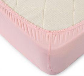 Простыня трикотажная на резинке (розовая) 90х200х20 Текс-Дизайн