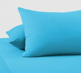 Наволочки трикотажные (голубые) 70х50