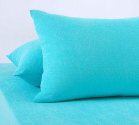 Наволочки махровые (голубые) 70х70