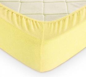 Простыня махровая на резинке (желтая) 200х200х30