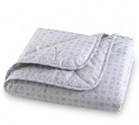 """Одеяло стеганое """"Япония"""" (210х230)  лен, хлопок (150 г.)/перкаль) Евро макси"""